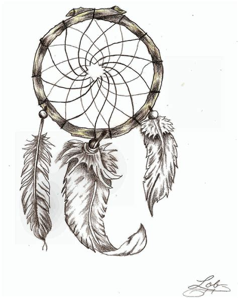 simple dreamcatcher tattoos dreamcatcher