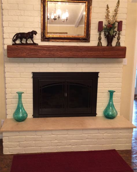 Faux Wood Fireplace Mantels by Fireplace Mantels Faux Wood Transitional Living Room