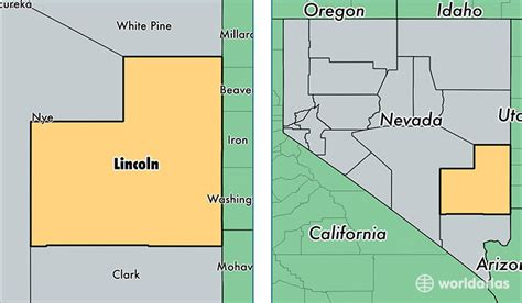 what county is lincoln in lincoln county nevada map of lincoln county nv where