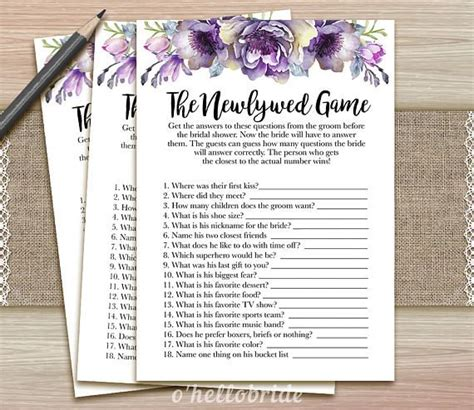 newlywed questions for bridal shower the 25 best bridal shower newlywed ideas on newlywed questions wedding