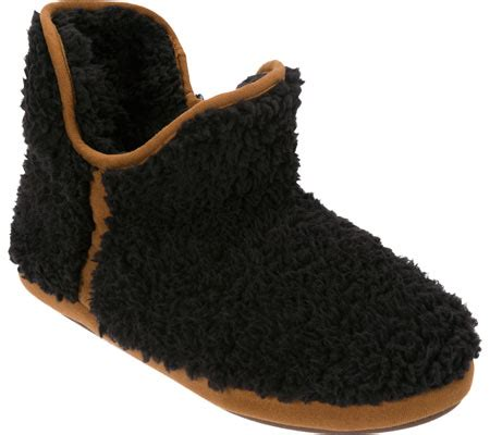 dearfoam slippers size chart womens dearfoams pile boot slipper black free
