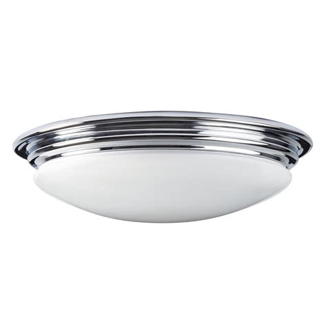 Flush Mount Bathroom Lighting Led Flush Fitting Bathroom Ceiling Light Opal Glass With Chrome Ring