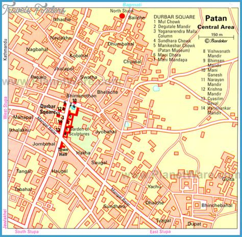 map of lalitpur nepal nepal map tourist attractions travelsfinders