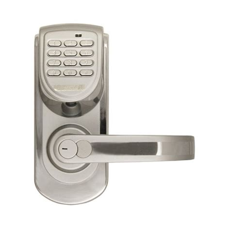Keypad Door Lock Lowes by Shop Lockstate Silver Electronic Entry Door Deadbolt With Keypad At Lowes