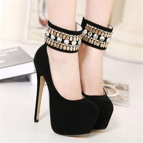 High Heels Wedges Catenzo Cd 073 zapatos altos de mujer de moda plataforma negros buscar