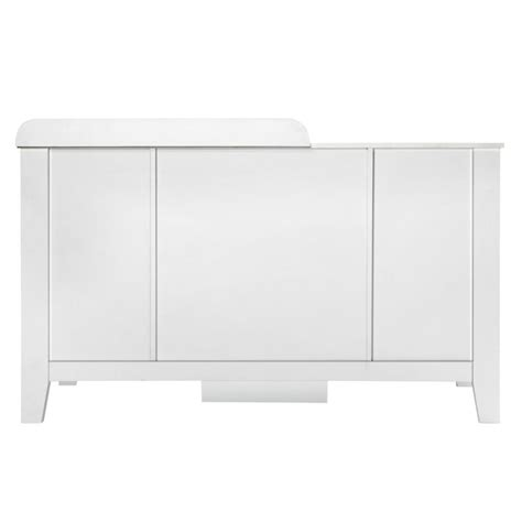 baby change table with drawers white baby change table station with 4 drawers in white buy
