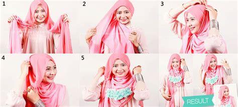 tutorial kerudung segi empat tutorial kerudung segi empat cara memakai jilbab modern segi empat dan gambar