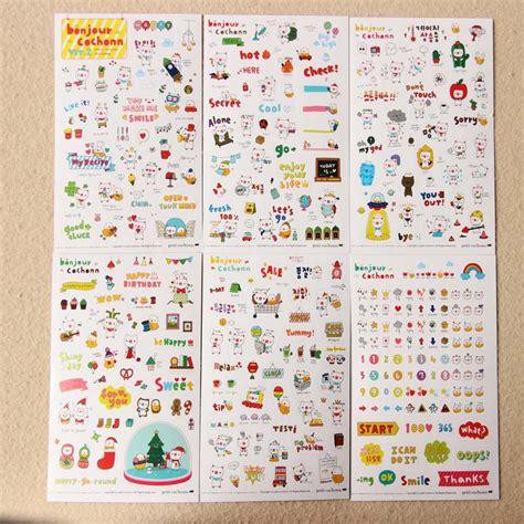 Drawing Market Sticker 6sheet print memo sticker drawing market diary