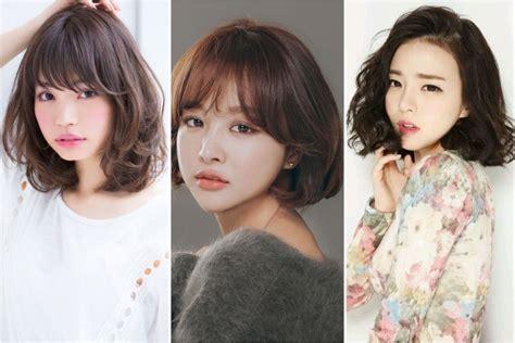 model rambut sebahu tercantik ala korea  tebal