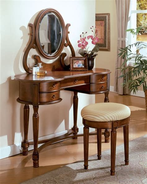 3 pcs oak vanity set traditional makeup