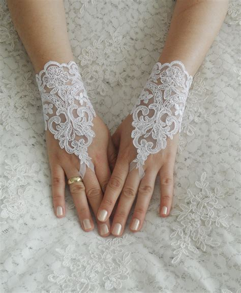 Lace Wedding Gloves wedding gloves ivory lace gloves fingerless gloves