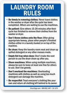 Good Laundry Room Colors - laundry room rules sign sku s2 1275