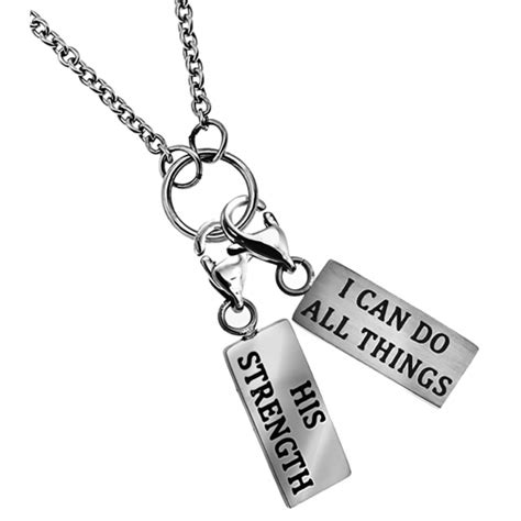 charm necklace quot strength quot purityring