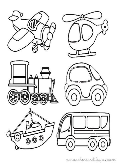 imagenes para colorear medios de transporte terrestre medios de transporte para colorear buscar con google