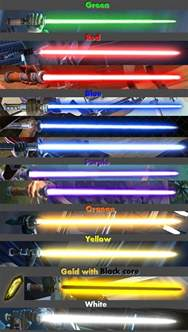 different colored lightsabers swtor guide to lightsaber crystals swtor guides