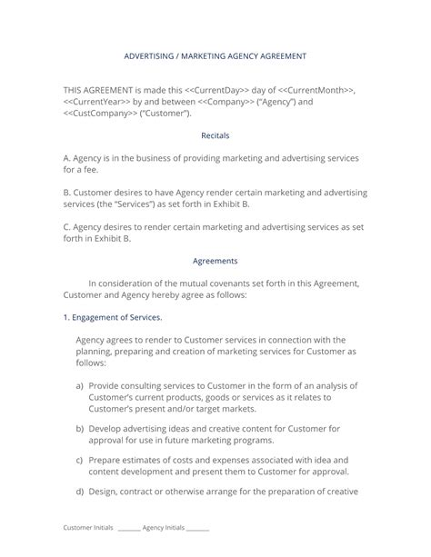 Advertising And Marketing Agency Contract 3 Easy Steps Agency Contract Template