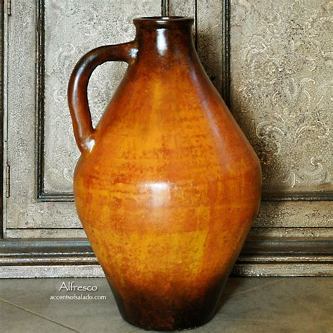 tuscan vases home decor tuscan orange floor vase accentsofsalado com tuscan