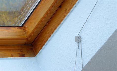 seilzug markise hitzeschutz markise dachfenster treppen fenster
