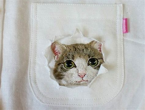 Cat Embroidery Shirt cats embroidered on shirts