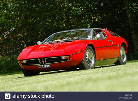 maserati bora maserati bora 1970 sports car stock photo royalty
