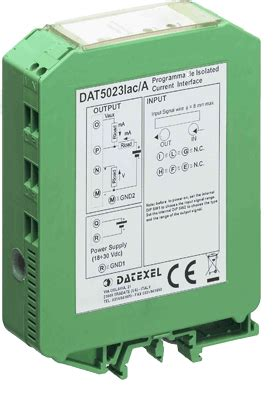 Ac Voltage Transducer 4 20ma by Dc Current Transducer 0 40 To 4 20ma Dat5023idc C Din Rail