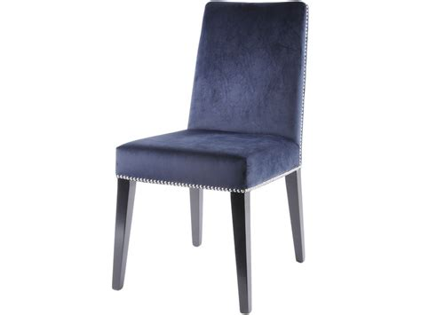 Navy Upholstered Dining Chair Navy Blue Dining Chair Blue Dining Chair With Rivets