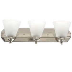 Hton Bay 4 Light Brushed Nickel Bath Light 05382 The Home Depot Hton Bay 3 Light Brushed Nickel Bath Bar Light Hb2076 35 The Home Depot