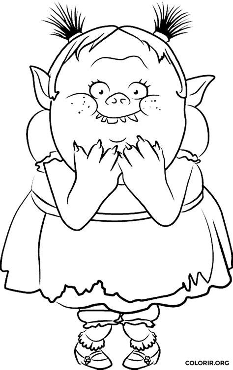 imagenes para pintar trolls bridget de trolls para colorir colorir org