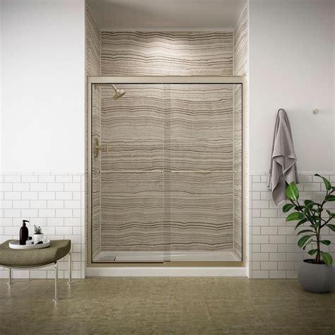 8 x 5 sliding doors kohler gradient 47 5 8 in x 70 1 16 in sliding shower
