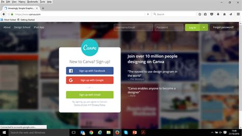 canva login page infographic how to create one for free infographic design