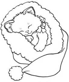 christmas kitty coloring page christmas cat coloring pages getcoloringpages com