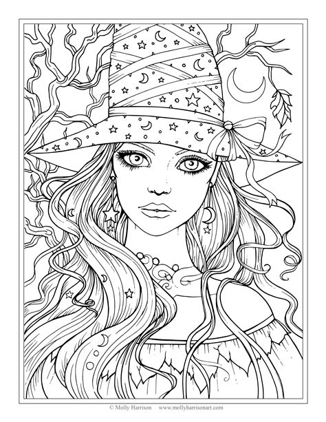coloring pages of people s faces the fairy art and fantasy art of molly harrison official
