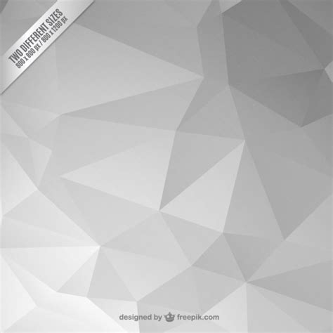 Polygon Premier 3 0 White grey abstract polygonal background vector free