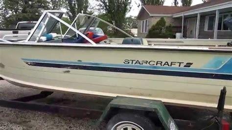 1987 starcraft bass boat starcraft ss18 youtube