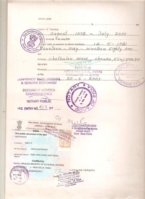 Indian Birth Records Certificate Apostille Service In India Certificate