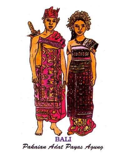 Nama Perkain Kaum Bali | nama pakaian adat suku bali nama suku suku bangsa yang