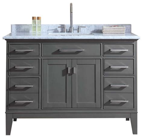 Where To Find Bathroom Vanities Danny Single Bathroom Vanity Set Maple Gray 48 Quot Transitional Bathroom Vanities And Sink