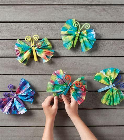 Tie Dye Paper Craft - tie dye tissue paper butterflies joann jo
