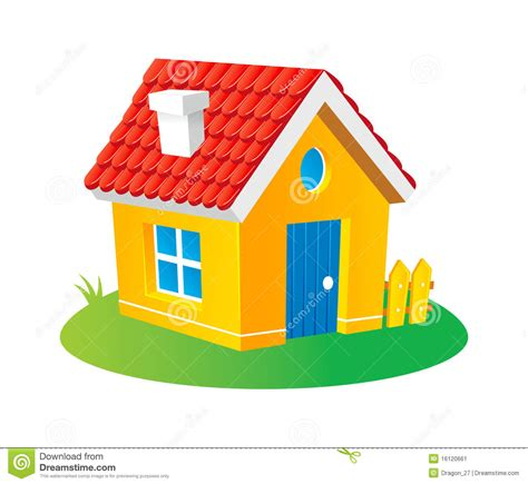 tiny house cartoon cartoon house stock image image 16120661