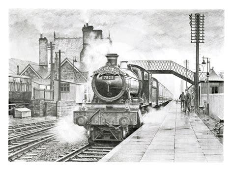 Ballard Design Art drawings of ex great western railway locomotives on behance