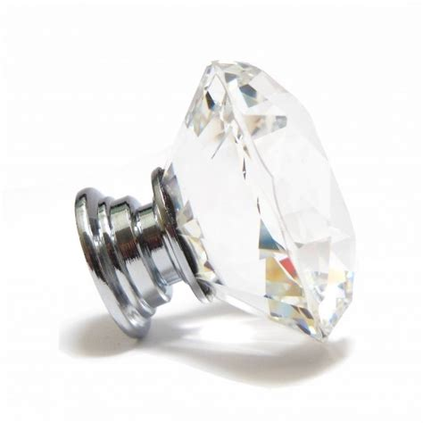 Cut Crystal Glass Diamond Faceted Cupboard Drawer Door Cut Glass Door Knobs