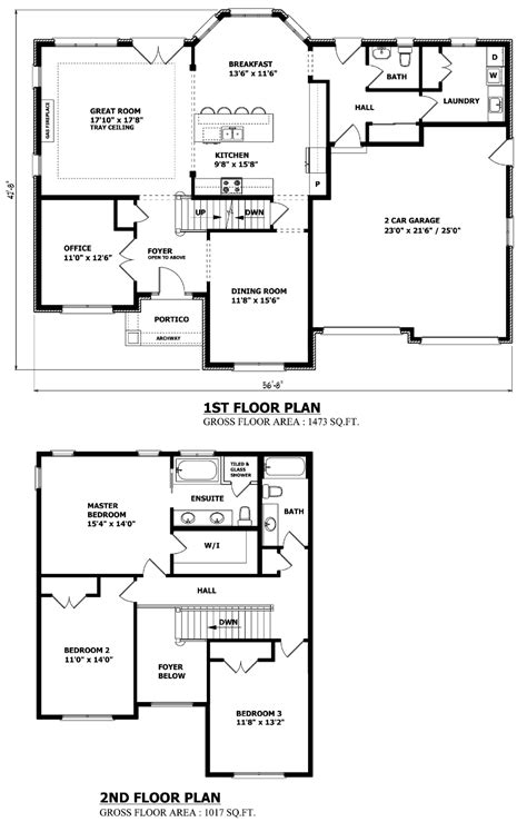 2 story house floor plans and elevations canadian home designs custom house plans stock house plans garage plans