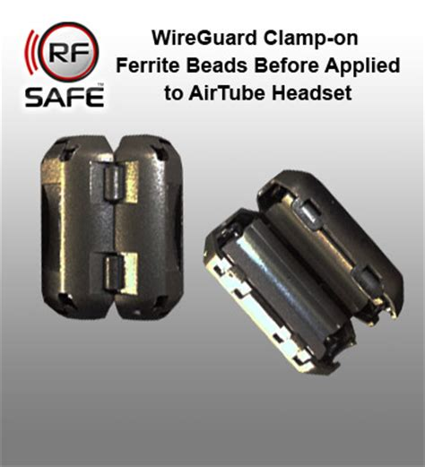 Headset Ferrite Bead rf safe headset radiation wireguard cl on ferrite suppressors