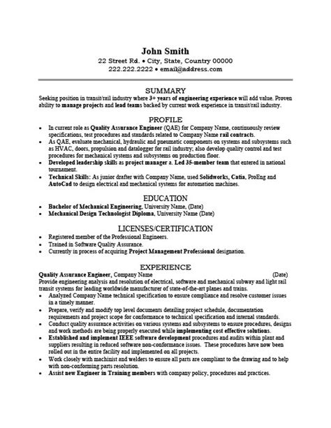 water quality engineer sample resume shalomhouse us