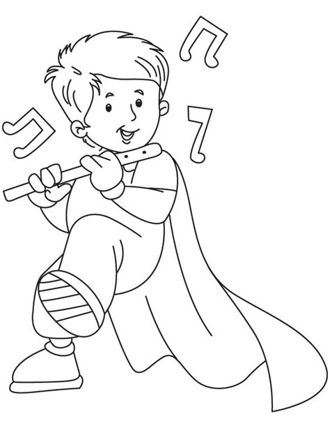fairy playing flute coloring pages