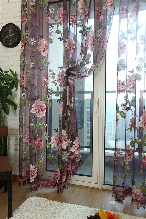 floral voile curtains floral sheer voile curtains amazing best mx 2m font