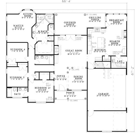 Traditional Plan 3 065 Square 4 Bedrooms 3 Traditional Style House Plan 4 Beds 3 00 Baths 2405 Sq