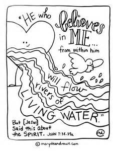 praying prayer rivers living water printable coloring marydean draws