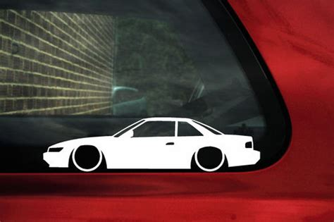nissan silvia  coupe jdm outline silhouette stickers decals