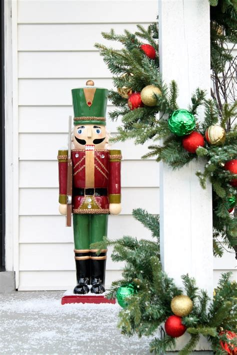 a nutcracker porch home improvement blogs